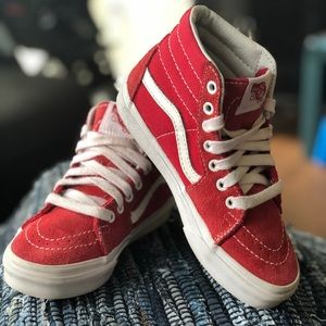 Red Vans Skate Board Sneaker